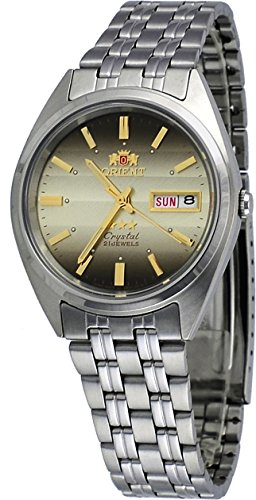 Orient #FAB0000DU Men's 3 Star Stainless Steel Brown Dial Day Date Automatic Watch