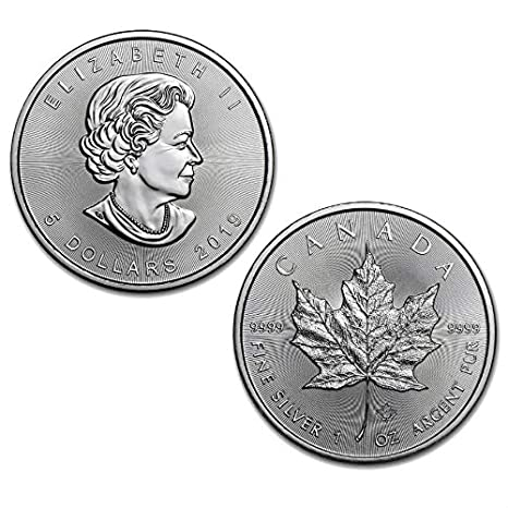 BU Lot 5 2016 Wolf Privy Silver Canadian Maple Leaf Reverse Proof Coin .9999
