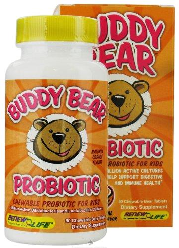 Renew Life - Buddy Bear probiotiques pour les enfants Orange - 60 comprimés à croquer