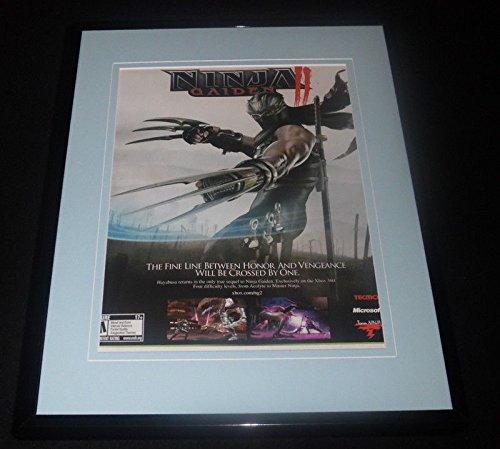 Ninja Gaiden II 2008 Xbox Framed 11x14 ORIGINAL ...