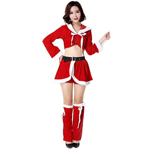 902d7a65a num liky Ladies Sexy Mrs Miss Christmas Santa Deck The Halls Xmas Fancy Dress  Costume Outfit 89143
