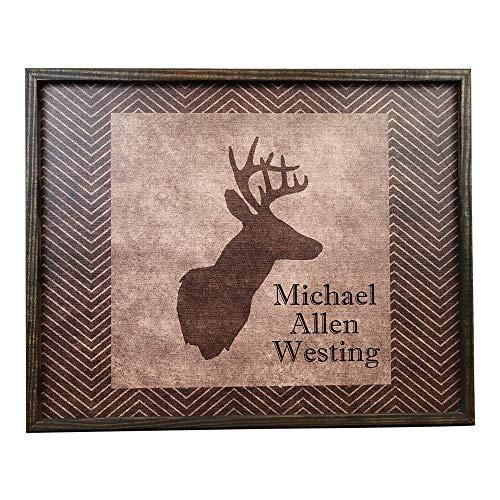 Personalized Framed Deer Head Canvas Print (Head Deer Framed)