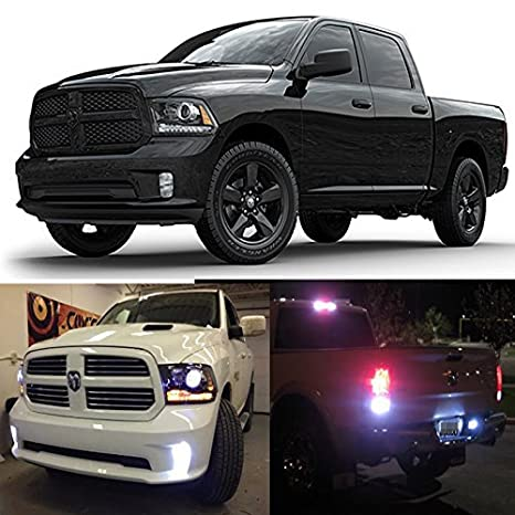 Dodge Ram 2016 >> Ledpartsnow Exterior Led Lights Replacement For 2013 2016 Dodge Ram 1500 2500 3500 Hd Heavy Duty Accessories Package Kit Fog Reverse Backup