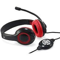 Conceptronic CCHATSTARU2R Binaural Diadema Rojo - Auriculares con micrófono (Centro de Llamadas/Oficina, Binaural…