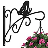 #10: AMAGABELI GARDEN & HOME Hanging Plants Bracket 11'' Wall Planter Hook Flower Pot Bird Feeder Wind Chime Lanterns Hanger Patio Lawn Garden for Shelf Shelves Fence Screw Mount against Door Arm Hardware