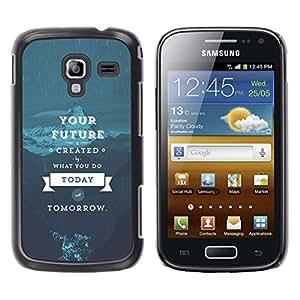 EJOY---Cubierta de la caja de protección la piel dura para el / Samsung Galaxy Ace 2 / --SU SABIDURÍA VIDA FUTURA
