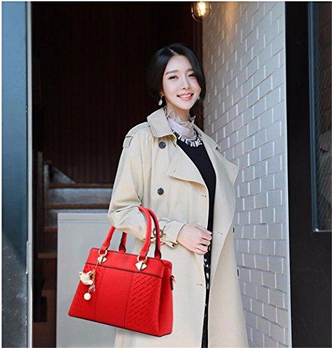 Bag CCZUIML Rosa Hombro para de rojo de Gran Bolso Mujer Crossbody Capacidad ddqwvr8