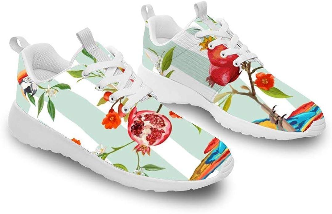Mesllings Unisex Walking Running Sneaker Parrot y Granada Árbol Ligero Deporte Moda Zapatos para Exterior: Amazon.es: Zapatos y complementos