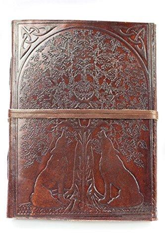 Custodia a Libro Diario con viaggio Picture Book albero e lupi A002 Appelstyle