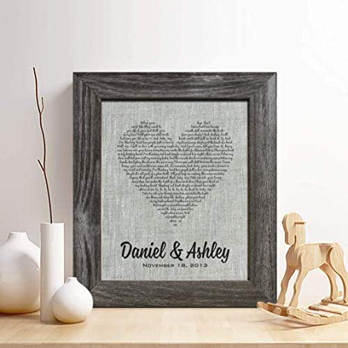 Unique Wedding Gifts For Second Marriage: Amazon.com: Personalized 4th Linen Anniversary Gift For