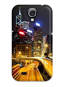 Awesome Design Hong Kong City Nights Hd Hard Case Cover For Galaxy S4