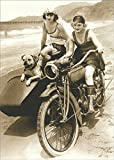 avanti motor - Avanti Flappers On Motorcycle America Collection Birthday Card