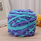 New Jo's Knitting/Crochet Purple & Blue color Anti-Pilling Soft Milk Cotton Yarn (Thick giant Wool Yarn 100g) for Hand knitting and to crochet Beautiful Hat, Scarf,Sweater,Shoes, Baby Blanket and many more…