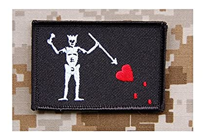 Navy SEAL Team 3 Blackbeard Pirate Flag Patch Edward Teach Battlefield 4