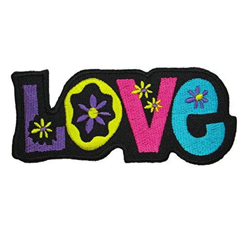 Love, Embroidered Hippie Iron on Patches