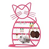 Urban Deco Earring Holder Stand with B'onus Earring Display Earring Holder in Pink Earrings Holder Cat Shaped
