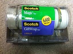 3m Scotch Magic Tape Gift Wrap Tape 6pk 6600 Total