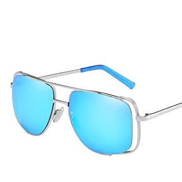 Aoligei Europe et l'États-Unis rétro grand cadre lunettes de soleil Half Hollow photo frame hommes et femmes tendance pare-soleil XvGe3nHW7
