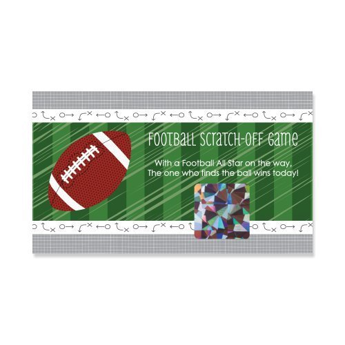 End Zone - Football - Baby Shower or Birthday Party Game Scratch Off Cards - 22 (Football Baby Shower Ideas)