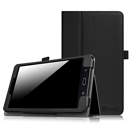Fintie Samsung Galaxy Tab E 8.0 Case - Slim Fit Premium PU Leather Folio Stand Cover for Galaxy Tab E 32GB SM-T378 / Tab E 8.0-Inch SM-T375 / SM-T377 Tablet, Black (Case Samsung Galaxy Tab)