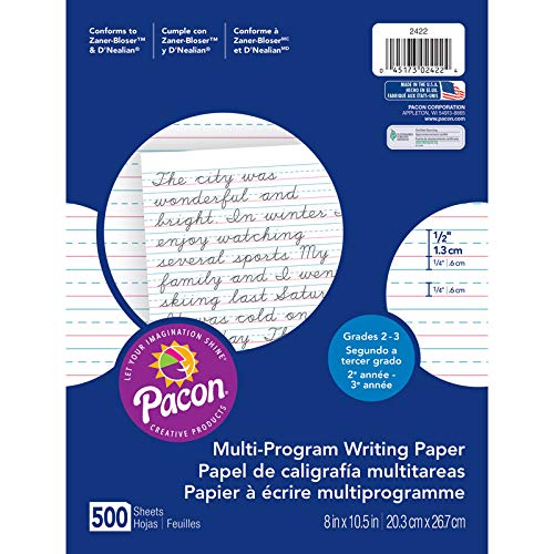 Pacon Products - Pacon - Multi-Program Handwriting Paper, 1/2