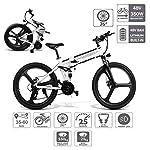 518pltZC3LL. SS150 Coolautoparts Bicicletta Elettrica Pieghevole 350W/500W 25km/h 26 Pollici Uomini Donne Mountain Bike 48V 10AH Batteria…