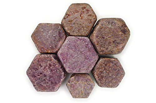 Hypnotic Gems Materials: 1 lb Natural Hexigonal Ruby Stones from India - Rough Bulk Raw Natural Crystals for Cabbing, Tumbling, Lapidary, Polishing, Wire Wrapping, Wicca & Reiki Crystal - Ruby Raw