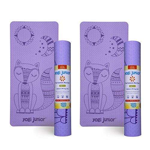 Yogi Junior Kids Yoga Mat – PVC Free – Double Layered TPE Foam (purple) For Sale