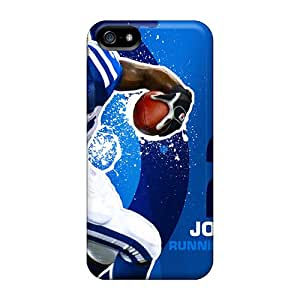 Scratch Protection Hard Phone Covers For Iphone 5/5s With Custom Trendy Indianapolis Colts Series ErleneRobinson