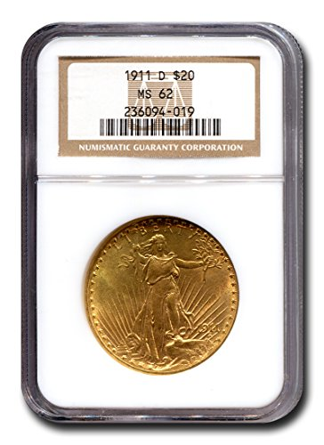 1911 D Saint Gaudens Twenty Dollar NGC MS-62