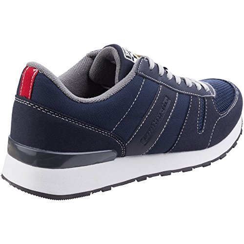 Lambretta Mens Elite Lightweight Lace Up Casual Sport Trainers Shoes Navy
