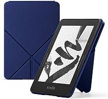 Capa Origami de couro para Kindle Voyage, cor azul