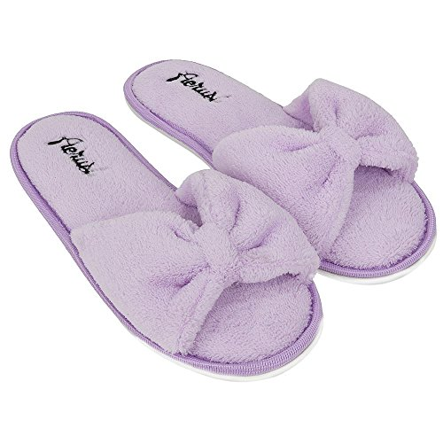 Bedroom Slippers Classy Cute Soft Season Sole Indoor Ladys Slide Four Purple Aerusi Comfort Slipper Beautiful Spa YwgXqA