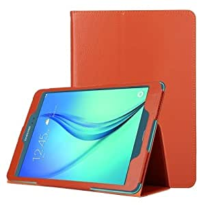 Litchi Texture Horizontal Flip Solid Color Leather Case with Two-Folding Holder for Samsung Galaxy Tab A 9.7 / T550 (Orange)