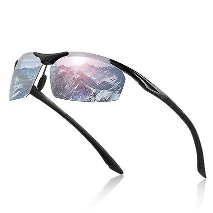 Avoalre® Gafas de Sol para Hombre de Metal Polarizadas Al-MG ...