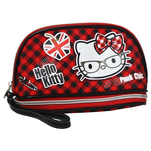 Hello Kitty Vichy Pochette Handbag Cosmetic Vanity Bag Sc...