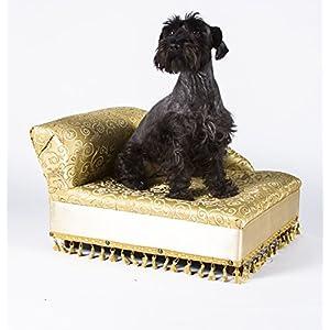 Mini Chaise Elegant Gold Pet Bed