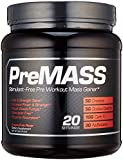 RAW PREMASS - 2-In-1 Pre Workout Mass Gainer, Caffeine Free Muscle Builder & Nitric Oxide Booster, Dragon Fruit, 688g