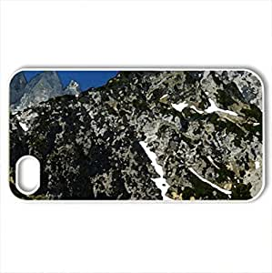 Alps - Case Cover for iPhone 4 and 4s (Mountains Series, Watercolor style, White)