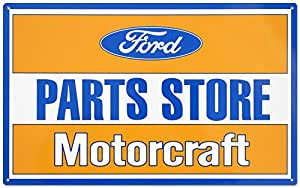 Ford Parts Store Motorcraft Tin Sign 11 x 17in