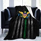"ULNL US Virgin Islands Flag Soft Fleece Blanket Throw for Couch Bed Chair 60""x50"""