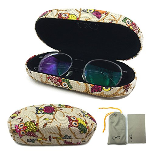 Hard Glasses Case for Eyeglasses Reading Glasses,Strong Eyeglass Case By Double Checked,7 Colors for - Eyeglasses Strong