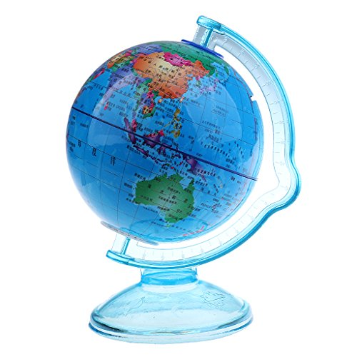 Jili Online Vintage Plastic Penny Coin Piggy Bank Mini World Globe for Dimes Home Decor