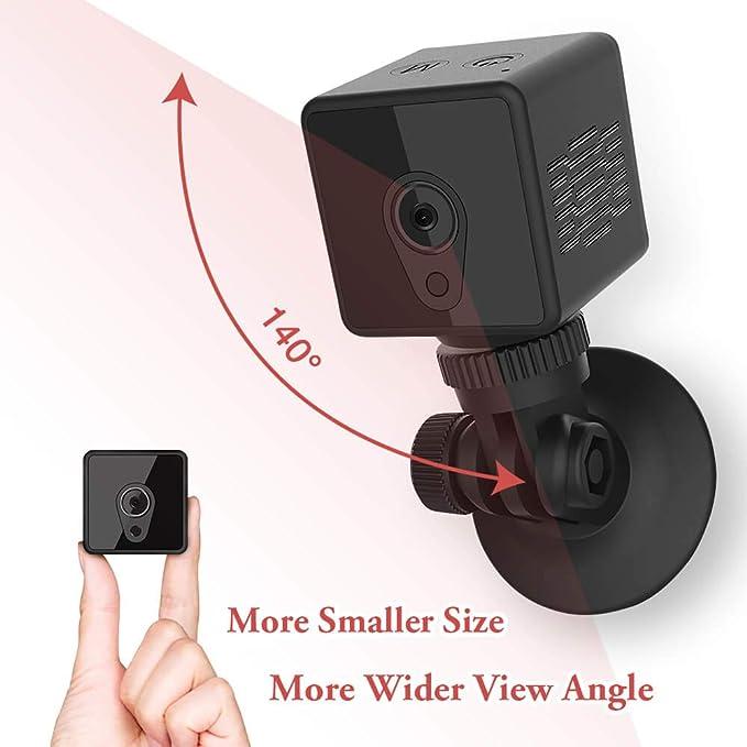 Mini cámara espía Oculta, cámara portátil Mica House1080P, detección de Movimiento/versión Nocturna, cámara de vigilancia en Tiempo Real para el hogar y ...