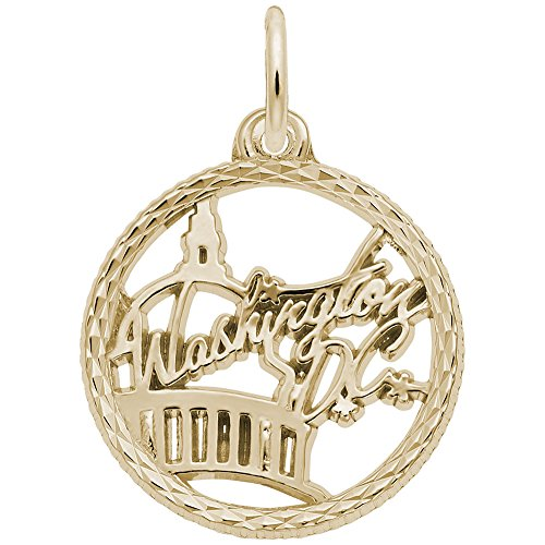 Washington Dc Charm In 14k Yellow Gold, Charms for Bracelets and - Dc Gold In Washington Shops