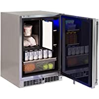 Lynx LM24REFCR Stainless Steel Outdoor Refrigerator with Freezer Combo, Right-Hinged, 24-Inch