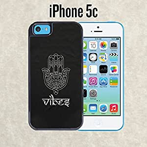 iPhone Case Buddhist Vibes Devine Hand for iPhone 5c Black 2 in 1 Heavy Duty (Ships from CA)