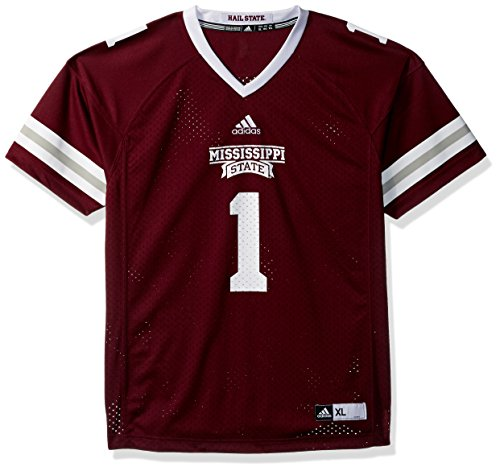 Outerstuff NCAA Mississippi State Bulldogs Youth Boys Fashion Football Jersey, L(14-16), Maroon (15 State Jersey Mississippi)
