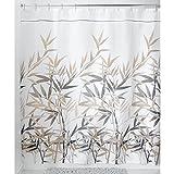 Stall Shower Curtain InterDesign 36512 Anzu Fabric Shower Curtain  - Stall, 54