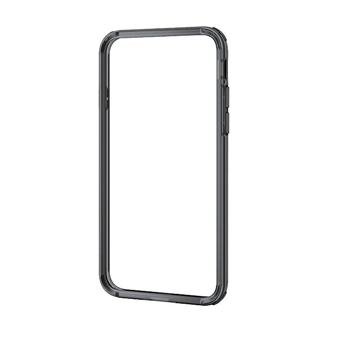 エレコム iPhone8 ケース カバー バンパー ハイブリッド素材 対衝撃×透明 iPhone7 対応 ブラック PM-A17MHVBBK